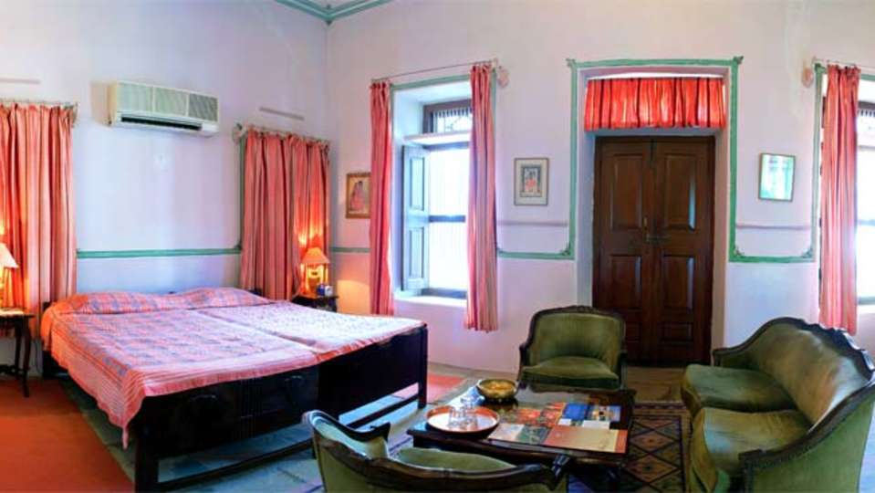 The Piramal Haveli, 20th Century, Shekhavati, Pink Rooms in Rajasthan 1