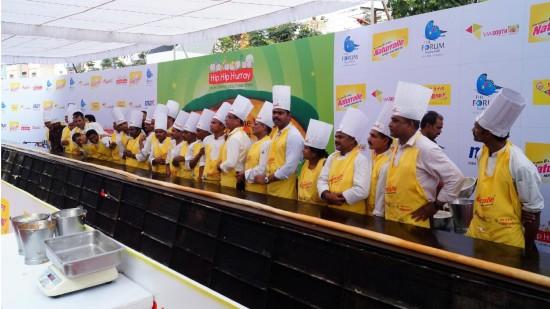 Guinness World Record Longest Dosa Hotel Daspalla Hyderabad 1
