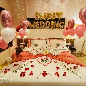 decorated room at Narayani Heights, hotel room in Gandhinagar 3