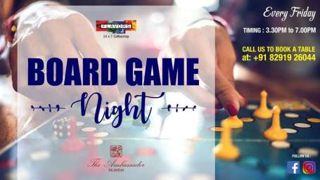 Board Game Night F B Offers on The Ambassador Mumbai