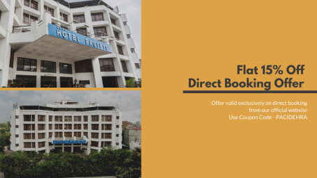 Flat 15% off on direct website booking at Hotel Pacific Dehradun