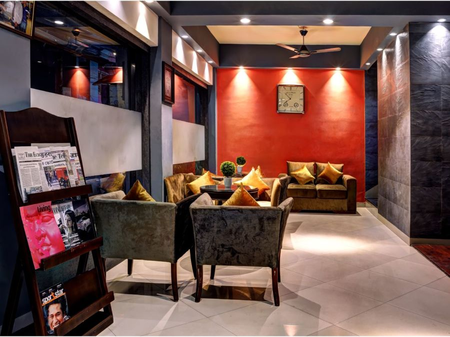 alt-text Reception at Mount Embassy Hotel in Siliguri