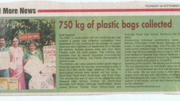 750 kg plastic bag collected