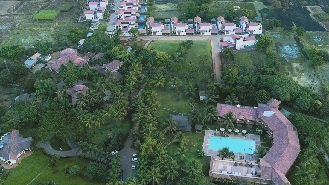 Aerial Shot of the Resort, Luxury Resort in Alibaug, Rooms in Alibaug, Suites in Alibaug, Villas in Alibaug