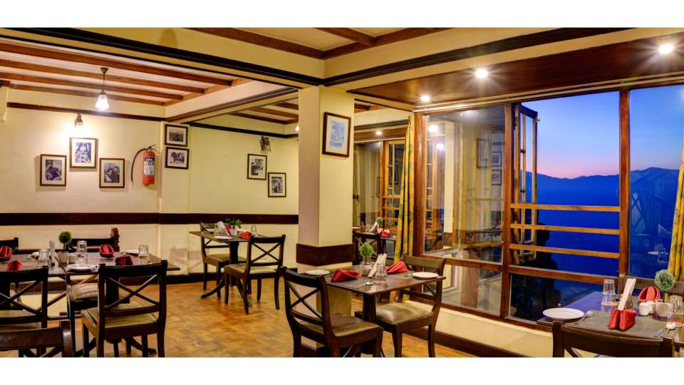 Dining at Summit Grace Hotel  Darjeeling 2