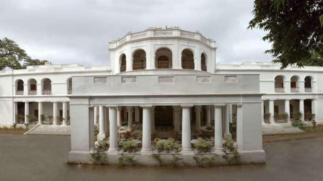 The Baradari Palace - 19th C, Patiala Patiala The horse-carriage portico of the Baradari Palace The Baradari Palace Patiala