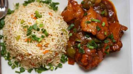 Manchurian and Fried-rice at Mount Himalayan Resort Darjeeling