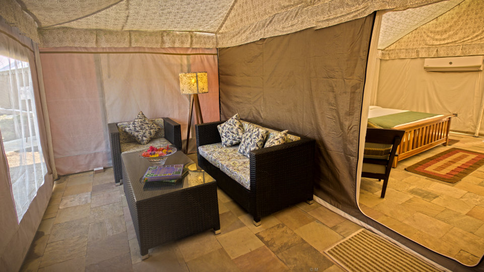 Luxury Tent at the golden tusk resort ramnagar, resort in ramnagar 5