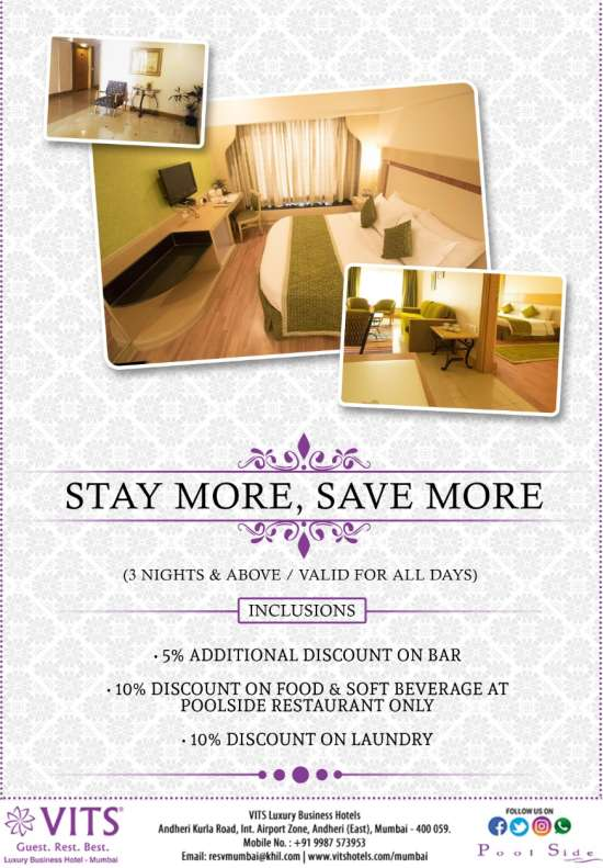 Stay More Save More - VITS Mumbai