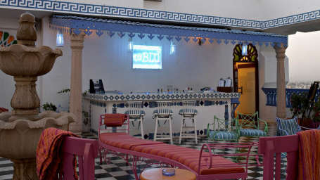 ta BLU`- Rooftop Cafe in jaipur Bar & Art Gallery, clarks amer, 5 star hotel in jaipur