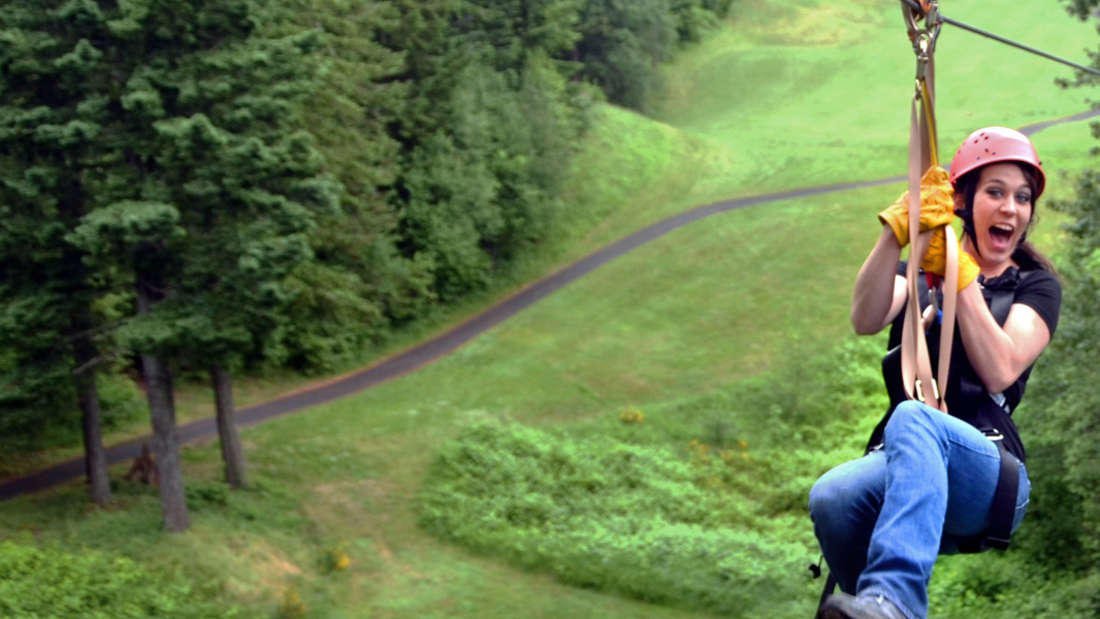 Skamania Lodge Things to Do Zip Line Tour over Golf Course precropped to 1440 x 600