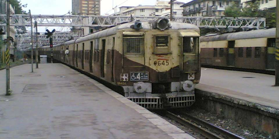 Train leaving Churchgate