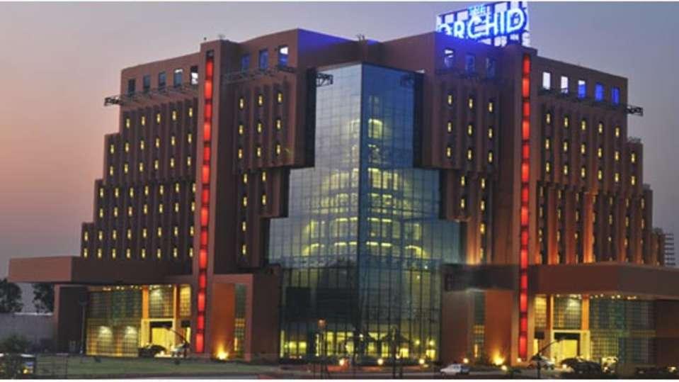 Exterior Night View of The Orchid Hotel Pune 5 Star Hotel near Hinjewadi Pune