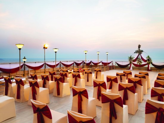 Roof top banquet Hall at Hotel Ramada Plaza Palm Grove Juhu Beach Mumbai, Roof top Banquets in Juhu Mumbai