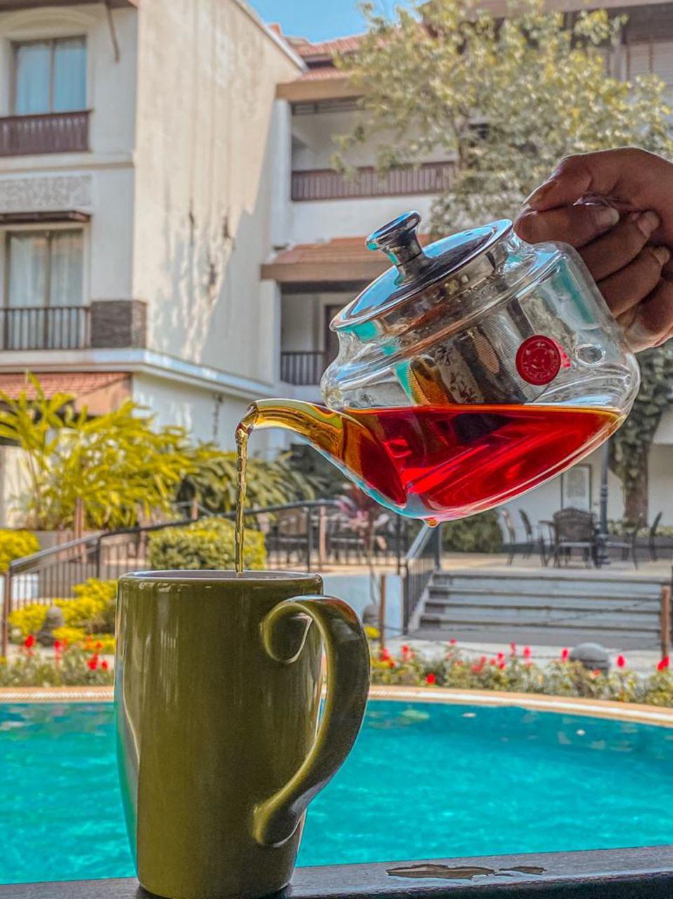 Tea by Pool