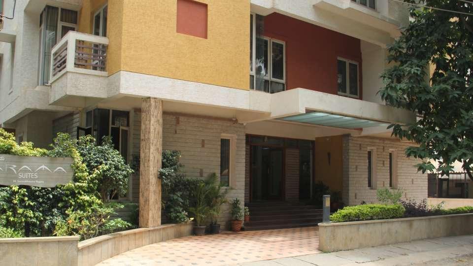 Hotel Arama Suites Bangalore exterior view 2 hotel arama suites banglore
