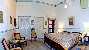 The Piramal Haveli - 20th C, Shekhavati Shekhavati Yellow The Piramal Haveli Hotel in Shekhavati Rajasthan