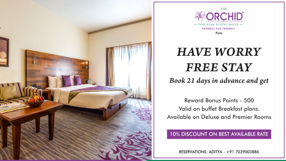 Advance Purchase Offer at The Orchid Hotel Pune