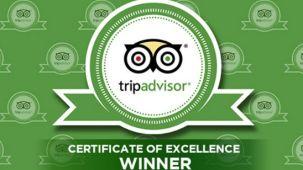 Tripadvisor Certificate of Excellence Winner