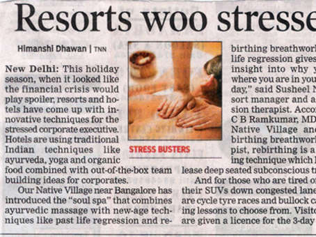 Resort woos stressed executives - Our Native Village - Family resort near Bangalore 114