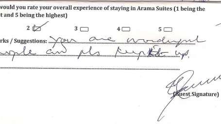 Hotel Arama Suites Bangalore Feedback 6 Hotel Arama Suites Bangalore