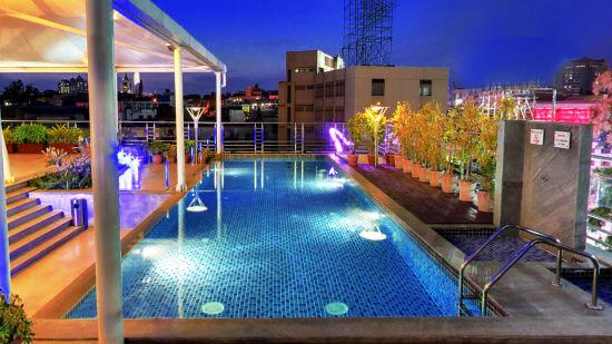 Iris Hotel Bangalore Infinity Swimming Pool at Iris Hotel on Brigade Road Bangalore