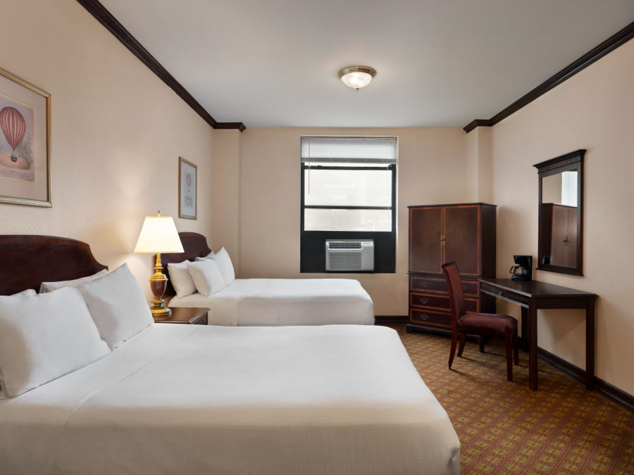 Standard 2 Double Beds are spacious accommodations at Night Hotel Broadway