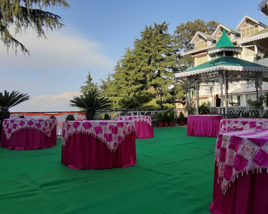 alt-text Banquet hall at Hotel Mount View, Weddings in Dalhousie, Banquet Hall in Dalhousie