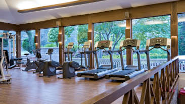Gym of Hotel Clarks Amer Hotel in Jaipur 111