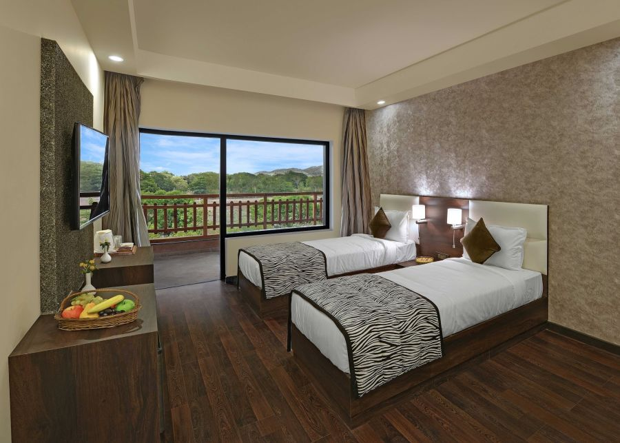 alt-text Deluxe Rooms, best place to stay in ranthambore 4