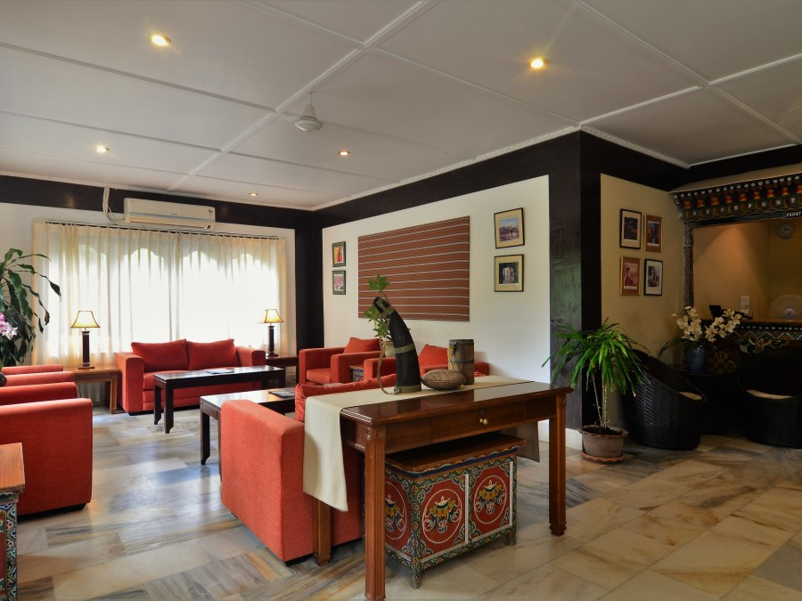 alt-text Reception-Lobby at Dragon s Nest Punakha
