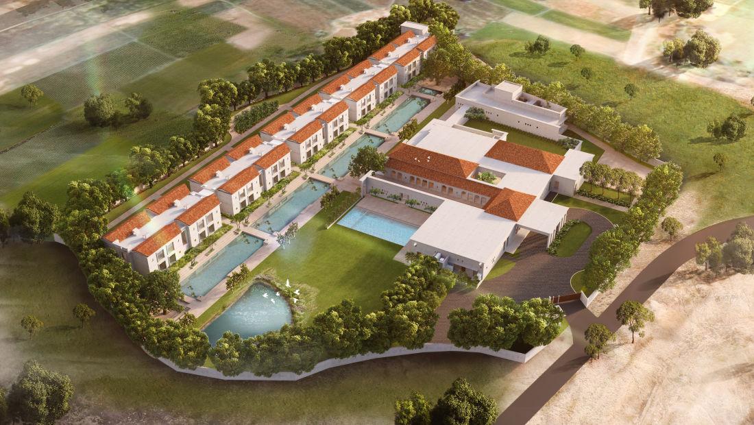 Aerial View,   Marasa Sarovar Premiere Bodhgaya, Hotels in Bodhgaya