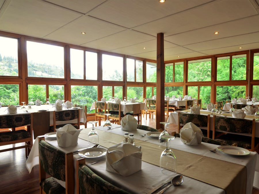alt-text Restaurant at Dragon s Nest Punakha