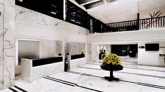 Lobby of St Marks Hotel in Bangalore