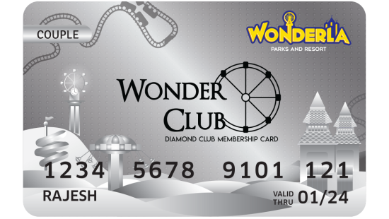 Wonderla Membership Card W 86 x H 54 mm dc Couple