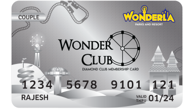 Wonderla Membership Card W 86 x H 54 mm dc Couple