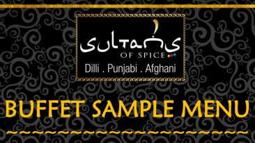 SULTANS OF SPICE SAMPLE BUFFET MENU-1