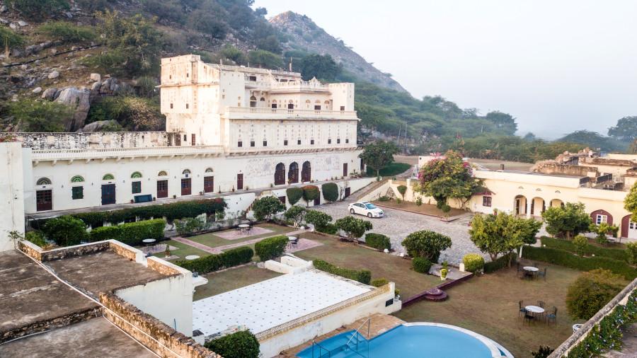 Facade of Bara Bungalow Kalwar, Jaipur 19, Jaipur Villa, Best Villa in Jaipur