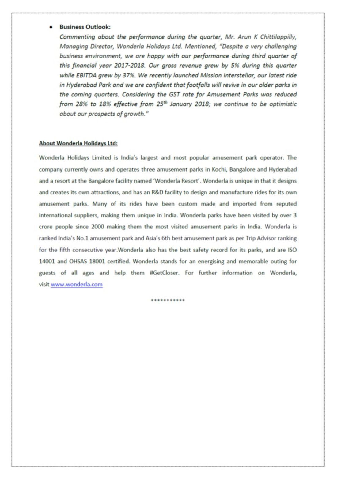 Press Note Q3 2