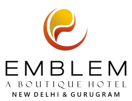 Emblem Hotel, Sector 14, Gurugram Gurgaon logo white