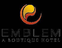 Emblem Hotels  logo white