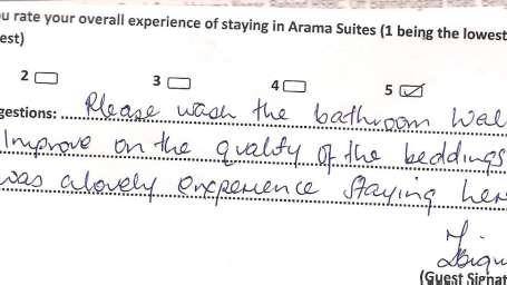 Hotel Arama Suites Bangalore Feedback 8 Hotel Arama Suites Bangalore
