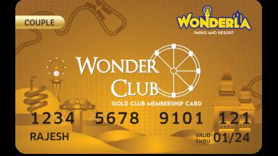 Wonderla Membership Card W 86 x H 54 mm gc Couple