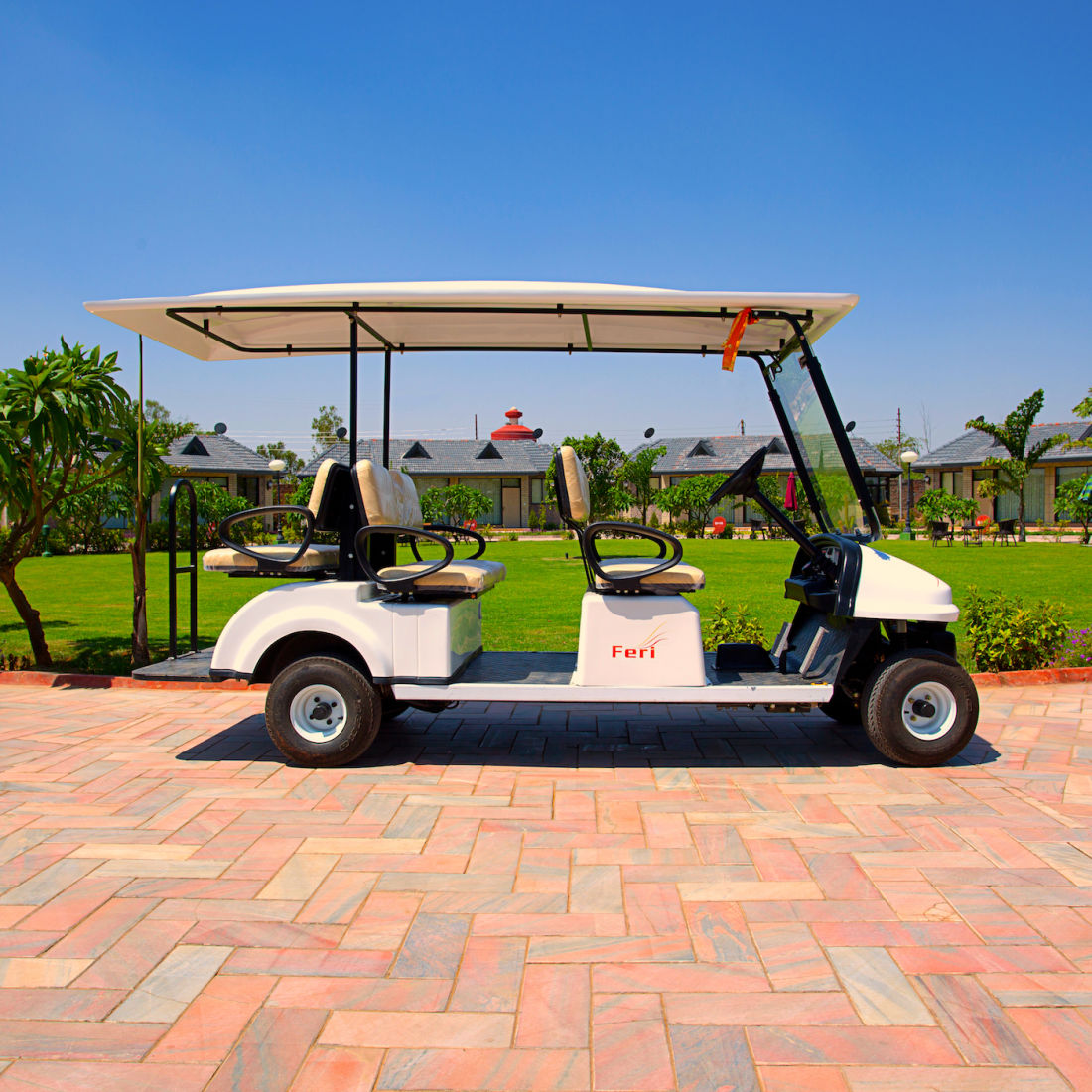 Club Car Facility at Our Resort in Mathura - Shri Radha Brij Vasundhara Resort Spa