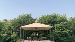 Open Air Deck - Alfresco Lounge Outdoor Dining Umaid Lake Palace
