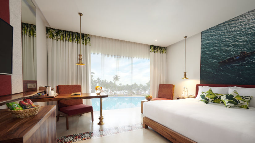 Rooms at Estuary Sarovar Portico Poovar Island