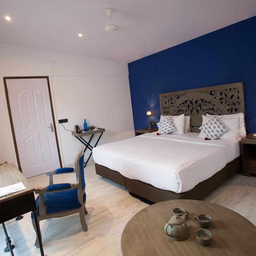 alt-text Hotel Rooms in Morjim, Living Room Beach Resort, Goa