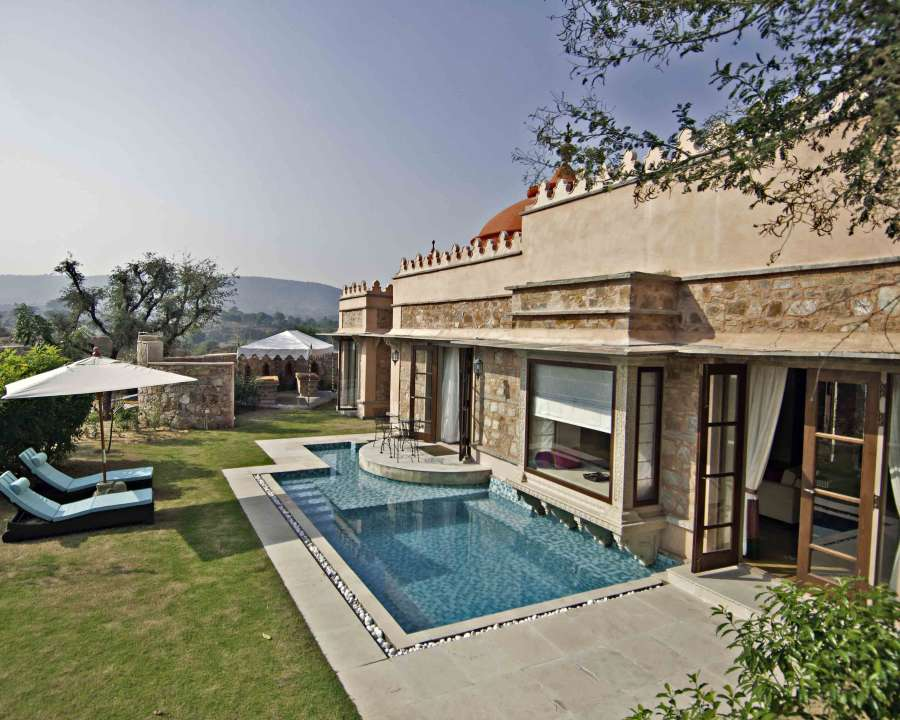 alt-text Luxury Pool Spa Villa at tree of life resort and spa, jaipur 22