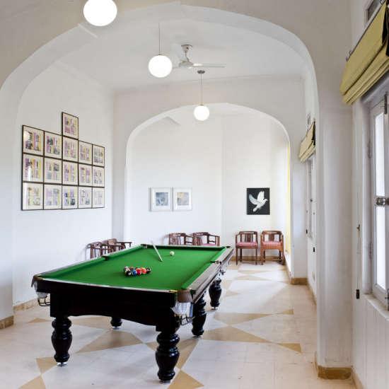 Pool Table, Neemrana Hotel, Hill fort-Kesroli