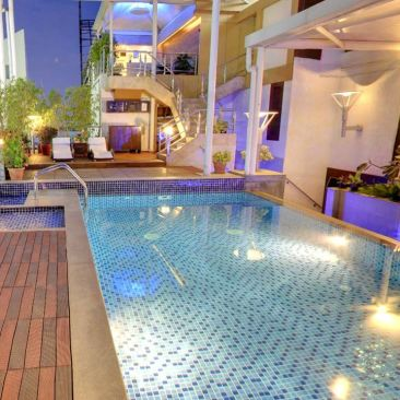 Iris Hotel Bangalore Infinity Swimming Pool at Iris Hotel on Brigade Road Bangalore 2